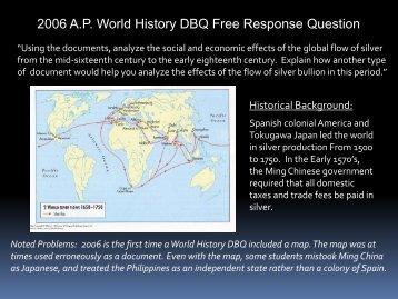 2004 ap world history dbq essay