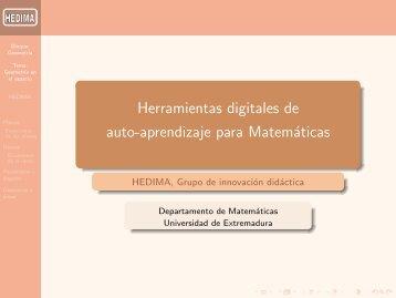 Geometría en el espacio - Departamento de Matemáticas ...