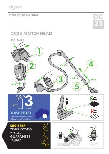 dyson dc23 turbine head manual