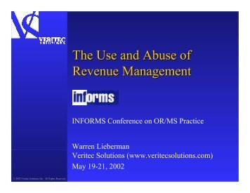 The Use and Abuse of Revenue Management