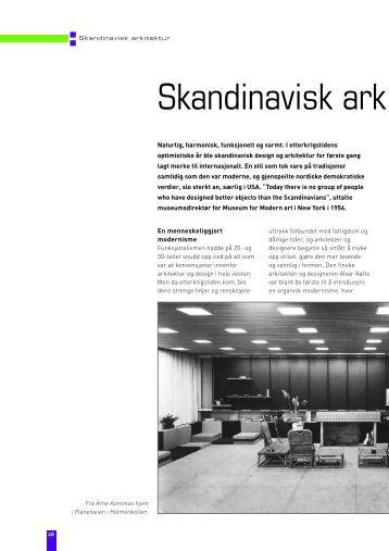 Skandinavisk design og norsk arkitektur