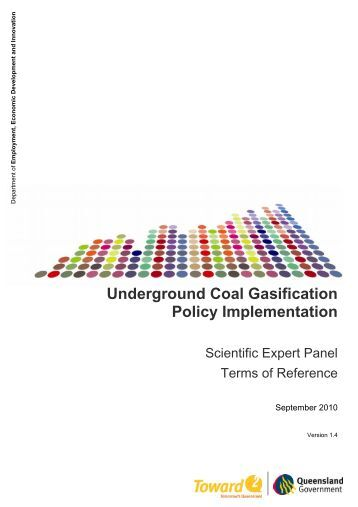 UCG Scientific Expert Panel Terms of Reference - Queensland ...