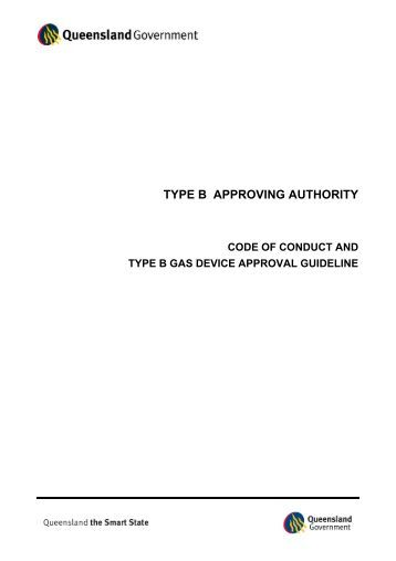 code of conduct and type b gas device approval guideline