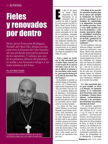 Fieles y renovados por dentro - Opus Dei