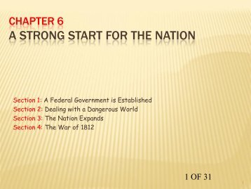 CHAPTER 6 A STRONG START FOR THE NATION - my CCSD