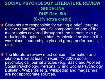 literature review guidelines scientific