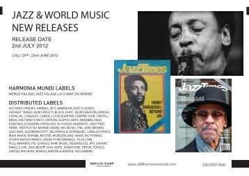jazz & world music new releases - Harmonia Mundi UK Distribution