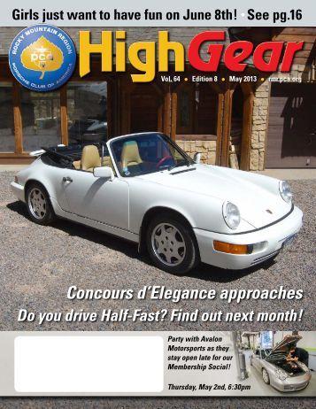 May 2013 - Rocky Mountain Region Porsche Club - Porsche Club of ...