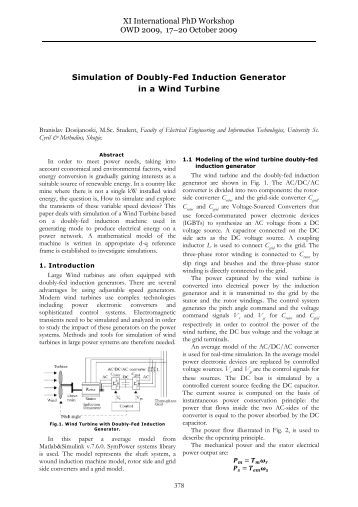 self excited induction generator thesis Different configurations of induction generators are being used for the generation of power when ig is operated as a self excited mode, then it have poor voltage.