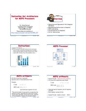 MIPS architecture - Wikipedia