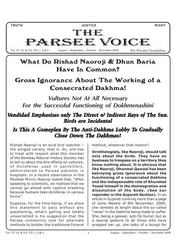 Parsee Voice - Traditional Zoroastrianism: Tenets of the Religion