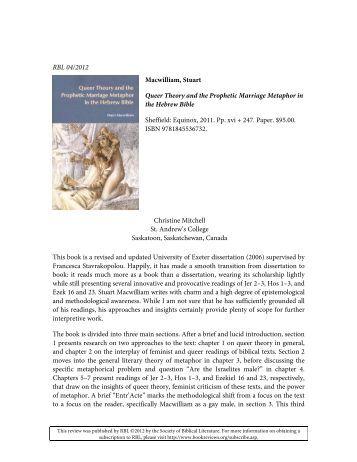 Biblical literature review