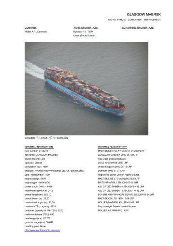 GLASGOW MAERSK IMO No - Cargo Vessels International