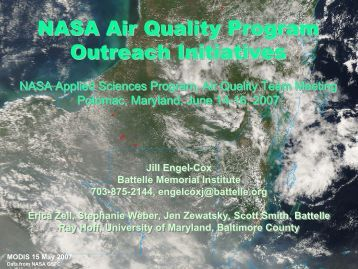 NASA Air Quality Program Outreach Initiatives NASA Air Quality ...