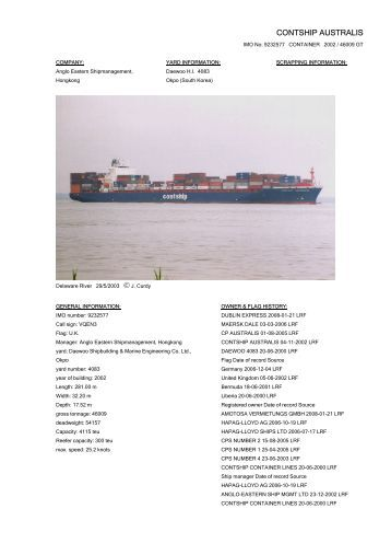 CONTSHIP AUSTRALIS - Cargo Vessels International