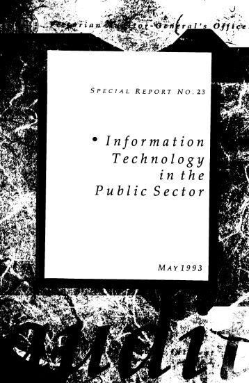 analysis of information technology in public sector The analysis of information technology' effects on public service productivity  yang dan 1, a 1politics and public administration school, east china  university.