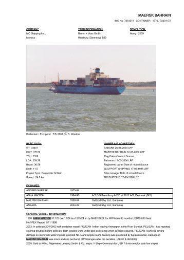 MAERSK BAHRAIN - Cargo Vessels International