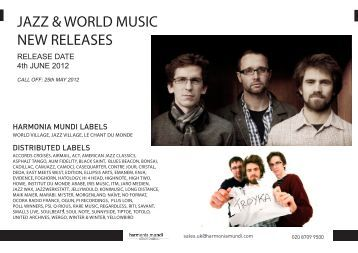 jazz & world music new releases - Harmonia Mundi UK Distribution