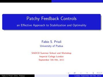 Patchy Feedback Controls