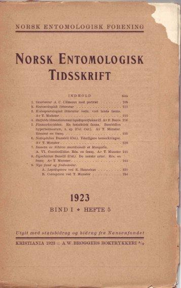 1 - Norsk entomologisk forening