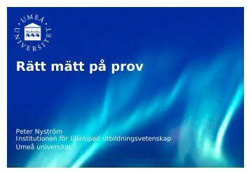 Peter Nyströms presentation - Umeå universitet