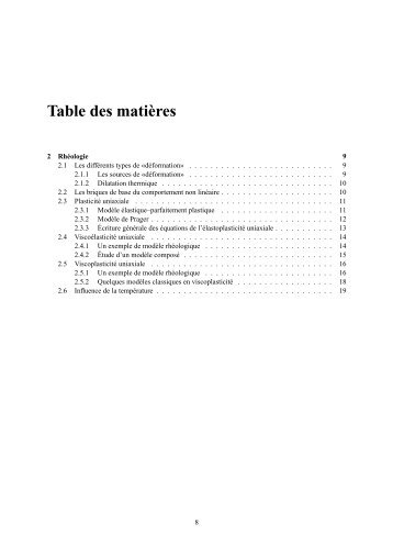 Chapitre 2 Rhéologie - Mécanique Matériaux Structure