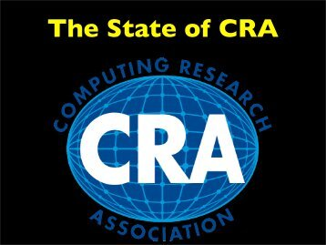 Research paper computing research association for Cra research