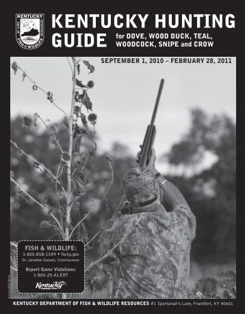 January 2013 newsletter kentucky department of fish and for Ky dept fish and wildlife