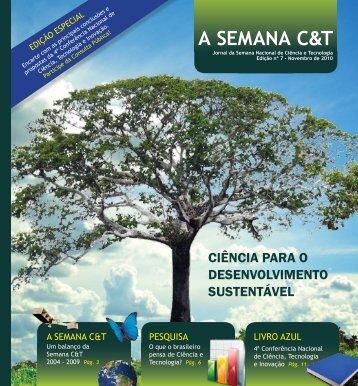 Jornal da Semana Nacional de Ciência e Tecnologia - Portal do ...