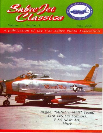 Volume 13 Number 3 Fall 2005 - Sabre Pilots Association