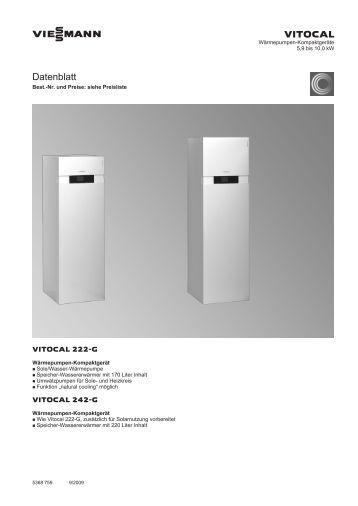 vitocal 350 a datenblatt. Black Bedroom Furniture Sets. Home Design Ideas