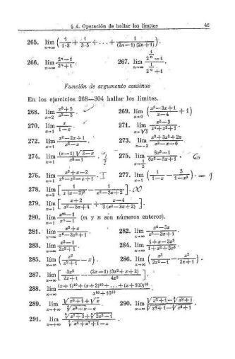 Limites y Continuidad. Problemas - Web del Profesor