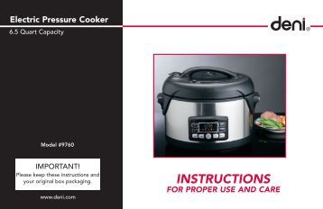 electric pressure cooker instructions