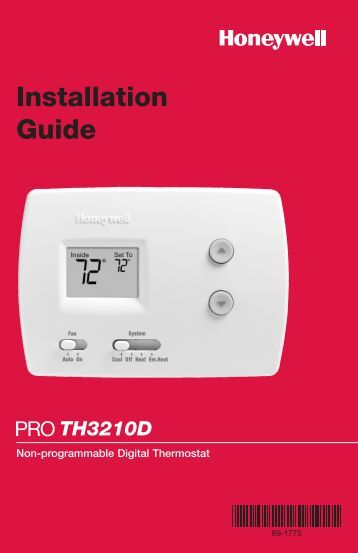PROTH3210D Non-Programmable Digital Thermostat - Honeywell ...