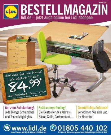 Bestellmagazin - 01.08.-30.08.2013