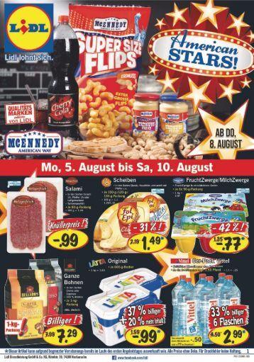 Filial-Prospekt Lebensmittel - KW31 - 01.08.-10.08.2013