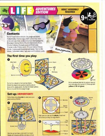 game of life instructions hasbro