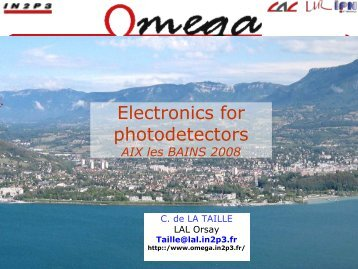 tutorial electronics for photodetectors - NDIP 11 - IN2P3