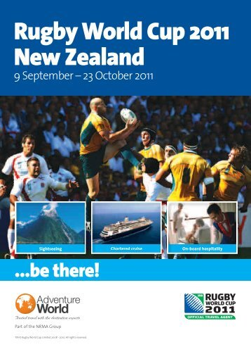 Rugby World Cup 2011 New Zealand - e-Travel Blackboard