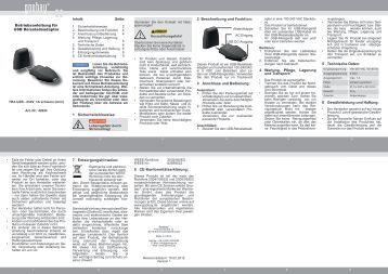 Schnellstart-Anleitung für LNL Verteilerleiste 6-fach für