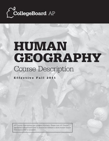human geography essay questions