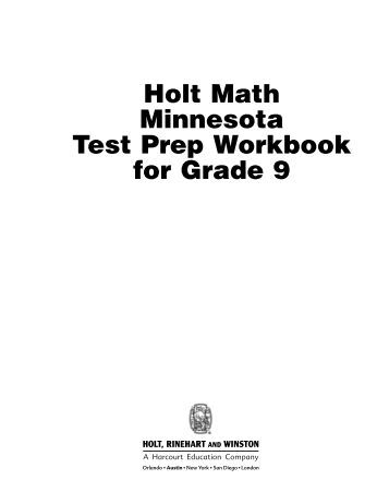 Download Math Test Sample: 9th Grade
