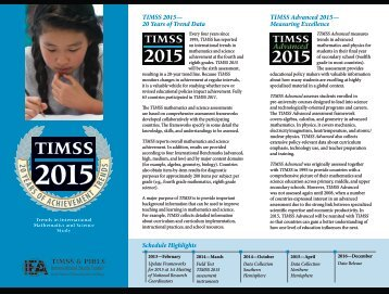 20 YEARS OF ACHIEVEMENT TRENDS - TIMSS and PIRLS Home ...