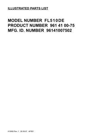 IPL, Flymo, FL510 DE, 96141007502, 2007-07, Lawn Mower