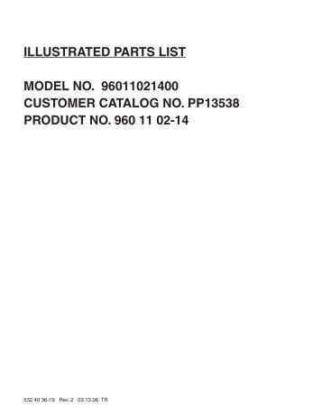 IPL, Poulan Pro, PP13538, 96011021400, 2006-03, Tractor