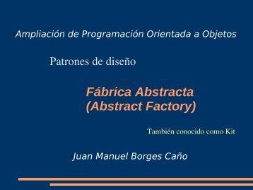 Patrones de diseño, Fábrica Abstracta