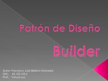 Patrón Builder