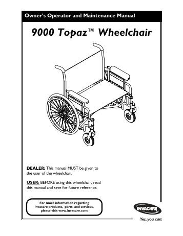 Invacare IVC Man ual Wheelchair Series