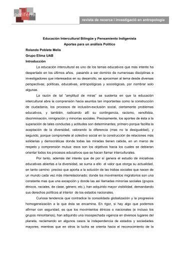 Educación Intercultural Bilingüe y Pensamiento Indigenista - Raco