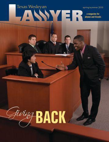Giving - Texas Wesleyan School of Law - Texas Wesleyan University